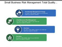 Small Business Risk Management Total Quality Management Strategy Cpb