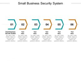 Small Business Security System Ppt Powerpoint Presentation Infographic Template Background Images Cpb