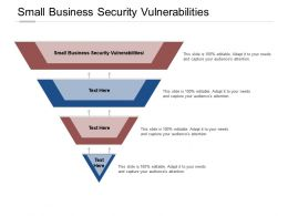 Small Business Security Vulnerabilities Ppt Powerpoint Presentation Layouts Outline Cpb