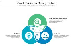 Small Business Selling Online Ppt Powerpoint Presentation Styles Shapes Cpb