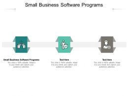 Small Business Software Programs Ppt Powerpoint Presentation Ideas Visuals Cpb