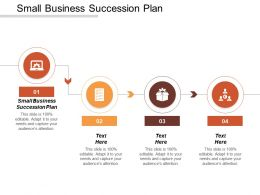 Small Business Succession Plan Ppt Powerpoint Presentation Infographic Template Examples Cpb