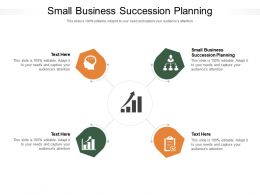 Small Business Succession Planning Ppt Powerpoint Presentation Professional Model Cpb