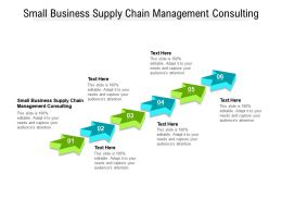Small Business Supply Chain Management Consulting Ppt Powerpoint Presentation Cpb