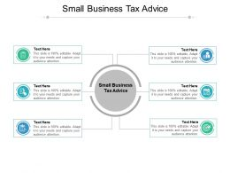 Small Business Tax Advice Ppt Powerpoint Presentation Professional Visual Aids Cpb