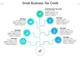 Small Business Tax Credit Ppt Powerpoint Presentation File Slides Cpb