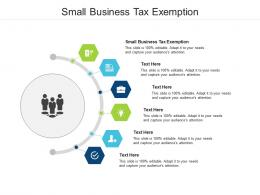 Small Business Tax Exemption Ppt Powerpoint Presentation Summary Deck Cpb