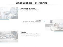 Small Business Tax Planning Ppt Powerpoint Presentation Icon Mockup Cpb
