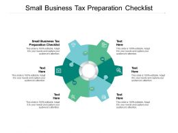 Small Business Tax Preparation Checklist Ppt Powerpoint Presentation Icon Topics Cpb