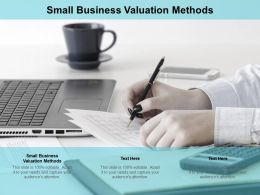 Small Business Valuation Methods Ppt Powerpoint Presentation Model Master Slide Cpb