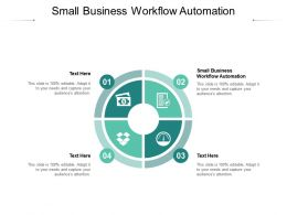Small Business Workflow Automation Ppt Powerpoint Presentation Layouts Layout Cpb