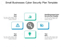 Small Businesses Cyber Security Plan Template Ppt Powerpoint Presentation Outline Slides Cpb