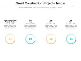 Small Construction Projects Tender Ppt Powerpoint Presentation Layouts Vector Cpb