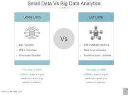 Small Data Vs Big Data Analytics Ppt Examples Professional