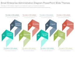 Small Enterprise Administration Diagram Powerpoint Slide Themes