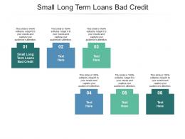 Small Long Term Loans Bad Credit Ppt Powerpoint Presentation Layouts Samples Cpb