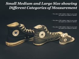 Small Medium And Large Size Showing Different Categories Of Measurement