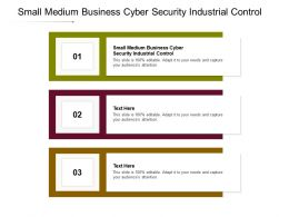 Small Medium Business Cyber Security Industrial Control Ppt Powerpoint Presentation Ideas Format Ideas Cpb