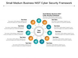 Small Medium Business NIST Cyber Security Framework Ppt Powerpoint Presentation Grid Cpb