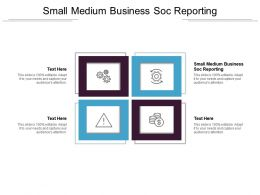 Small Medium Business Soc Reporting Ppt Powerpoint Presentation Icon Samples Cpb