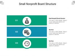 Small Nonprofit Board Structure Ppt Powerpoint Presentation Inspiration Master Slide Cpb