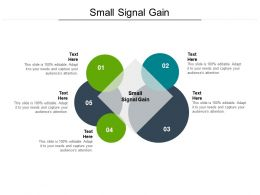 Small Signal Gain Ppt Powerpoint Presentation Outline Guidelines Cpb