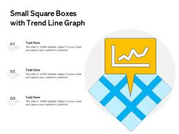Small Square Boxes With Trend Line Graph
