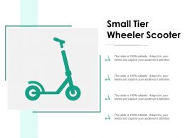 Small Tier Wheeler Scooter