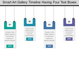 Smart Art Gallery Timeline Having Four Text Boxes