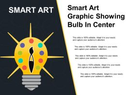 Smart Art Graphic Showing Bulb In Center
