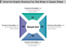 Smart Art Graphic Showing Four Text Boxes In Square Shape