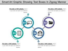 Smart Art Graphic Showing Text Boxes In Zigzag Manner