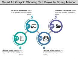 75214678 Style Circular Zig-Zag 4 Piece Powerpoint Presentation Diagram Infographic Slide
