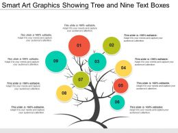 Smart Art Graphics Showing Tree And Nine Text Boxes