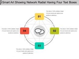 Smart Art Showing Network Radial Having Four Text Boxes