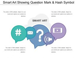 Smart Art Showing Question Mark And Hash Symbol