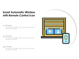 Smart Automatic Window With Remote Control Icon