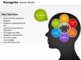 Smart Brain For Problem Solving PowerPoint Template Slide