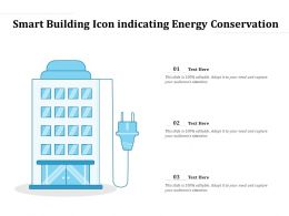 Smart Building Icon Indicating Energy Conservation
