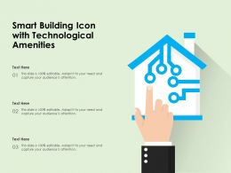 Smart Building Icon With Technological Amenities
