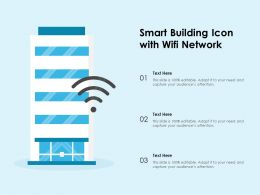 Smart Building Icon With WIFI Network