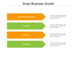 Smart Business Growth Ppt Powerpoint Presentation Summary Maker Cpb
