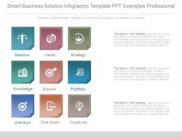 Smart Business Solution Infographic Template Ppt Examples Professional