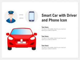 Smart Car With Driver And Phone Icon