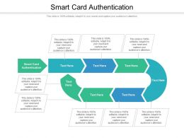 Smart Card Authentication Ppt Powerpoint Presentation Layouts Files Cpb