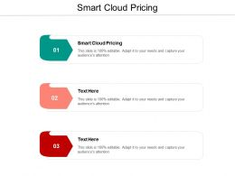Smart Cloud Pricing Ppt Powerpoint Presentation Outline Icons Cpb