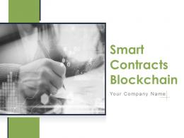 Smart Contracts Blockchain Powerpoint Presentation Slides