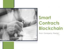 Smart Contracts Blockchain Powerpoint Presentation Slides