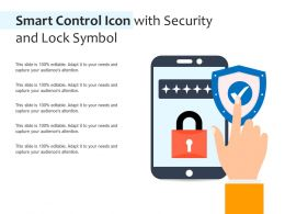 Smart Control Icon With Security And Lock Symbol