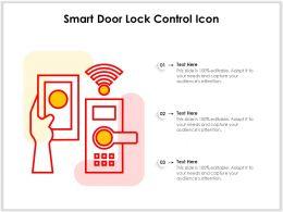 Smart Door Lock Control Icon